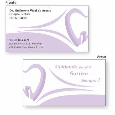 Cartão de Visita Premium - Ref. 0988  - Odonto Impress