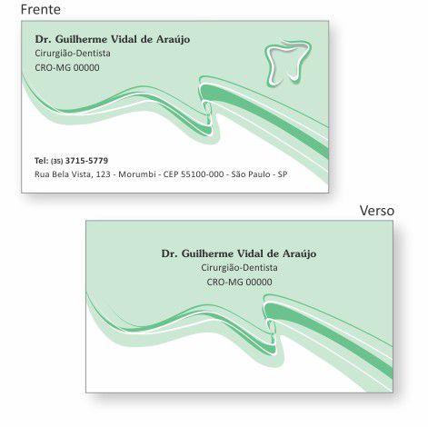 Cartão de Visita Premium - Ref. 0989  - Odonto Impress