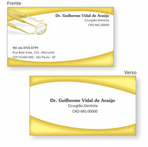 Cartão de Visita Premium - Ref. 0995  - Odonto Impress