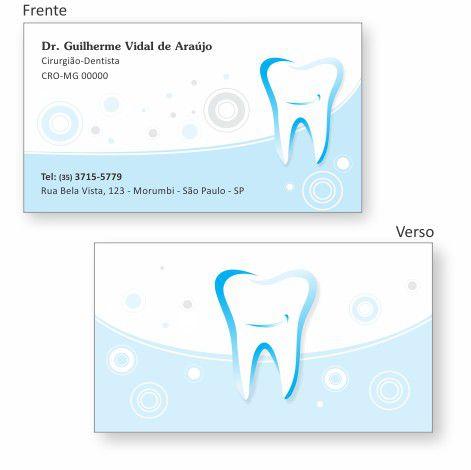 Cartão de Visita Premium - Ref. 0996  - Odonto Impress