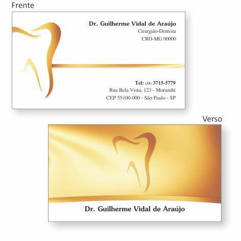 Cartão de Visita Premium - Ref. 0998  - Odonto Impress