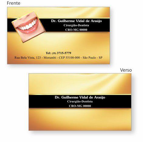 Cartão de Visita Premium - Ref. 1919  - Odonto Impress