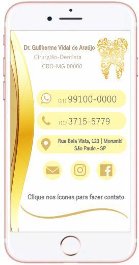 Cartão VIRTUAL INTERATIVO - Ref. 3901  - Odonto Impress