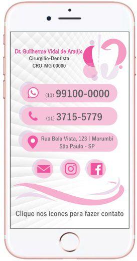 Cartão VIRTUAL INTERATIVO - Ref. 3907  - Odonto Impress
