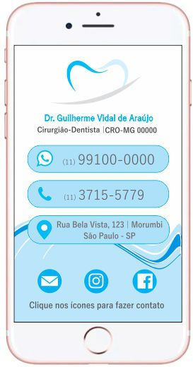 Cartão VIRTUAL INTERATIVO - Ref. 3908  - Odonto Impress