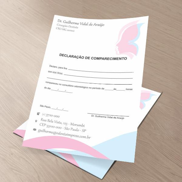 Declaração de Comparecimento HOF - Ref. 0479
