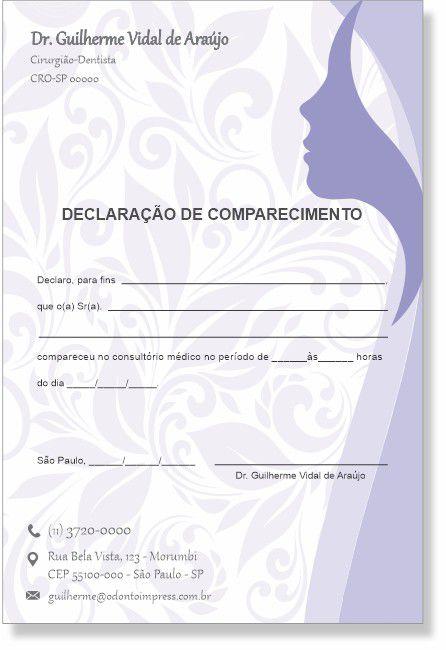 Declaração de Comparecimento HOF - Ref. 0481