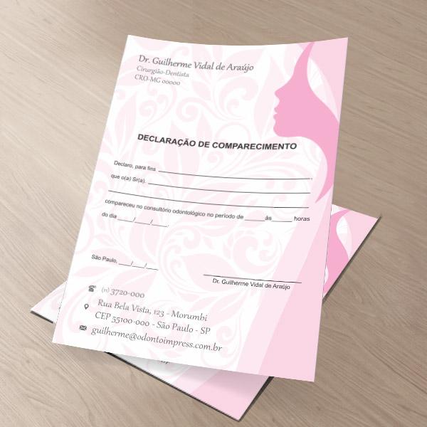 Declaração de Comparecimento HOF - Ref. 0482