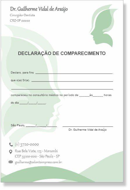Declaração de Comparecimento HOF - Ref. 0478