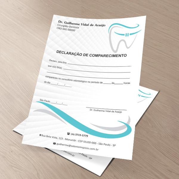 Declaração de Comparecimento ORTODONTIA - Ref. 3566