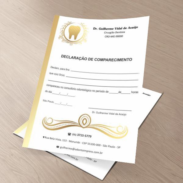 DECLARAÇÃO DE COMPARECIMENTO - REF. 0416