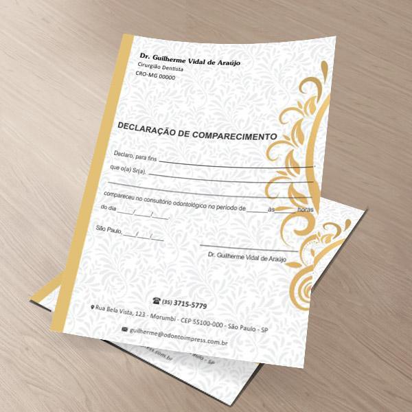 DECLARAÇÃO DE COMPARECIMENTO - REF. 0417