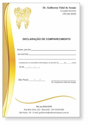 Declaração de Comparecimento - Ref. 0484