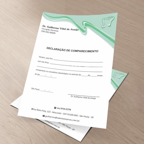 Declaração de Comparecimento - Ref. 0489