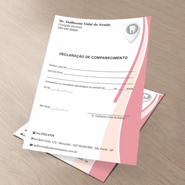 Declaração de Comparecimento - Ref. 0490
