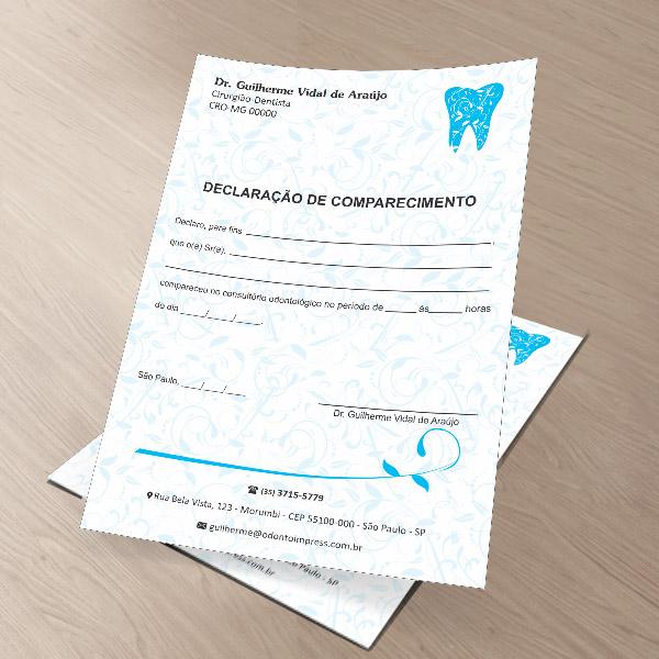Declaração de Comparecimento - Ref. 0491