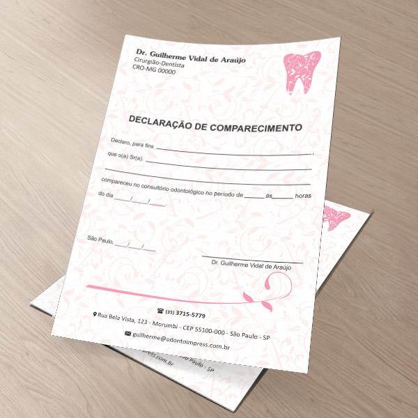 Declaração de Comparecimento - Ref. 0492