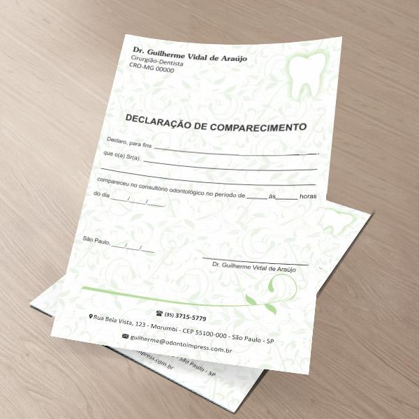 Declaração de Comparecimento - Ref. 0494