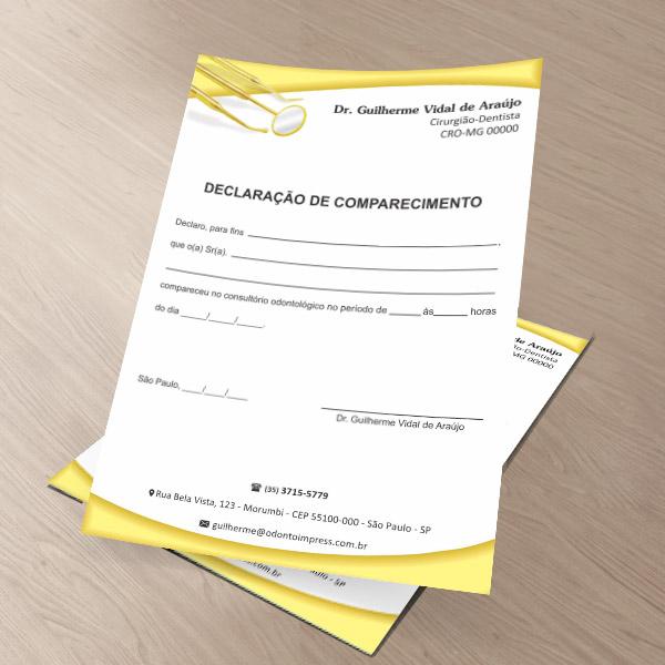 Declaração de Comparecimento - Ref. 0495