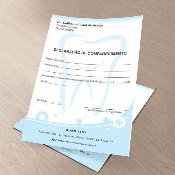 Declaração de Comparecimento - Ref. 0496
