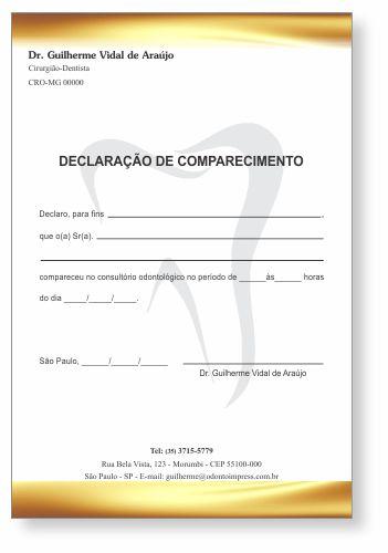 Declaração de Comparecimento - Ref. 0498