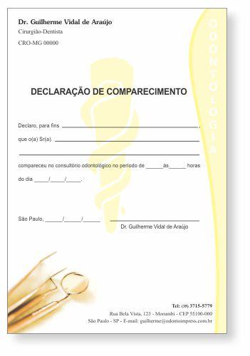 Declaração de Comparecimento - Ref. 3504