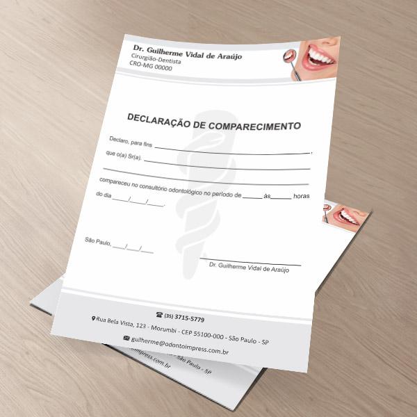 Declaração de Comparecimento - Ref. 3509