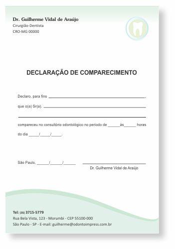 Declaração de Comparecimento - Ref. 3510