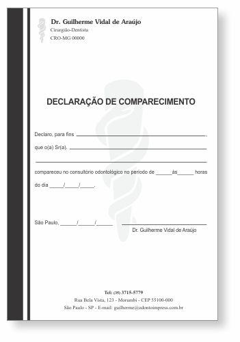 Declaração de Comparecimento - Ref. 3511