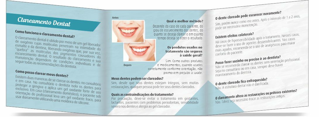 Folder CLAREAMENTO DENTAL - Ref. 3150  - Odonto Impress
