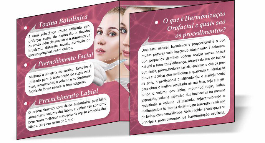 Folder de Harmonização Orofacial - Ref. 2116  - Odonto Impress