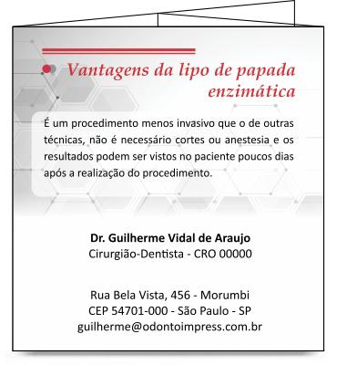 Folder de Lipo de Papada Enzimática - REF. 2115  - Odonto Impress