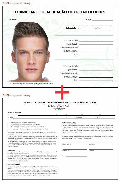 Formulário de Aplicação Preenchedores + Termo de Consentimento - Ref 2110