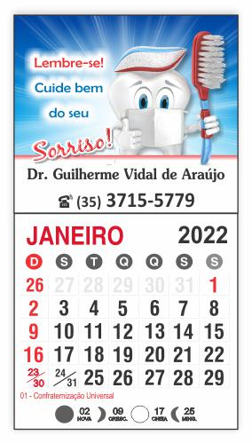 Imã de Geladeira com Calendário - Ref. 3296