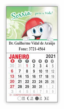 Imã de Geladeira com Calendário - Ref. 3299