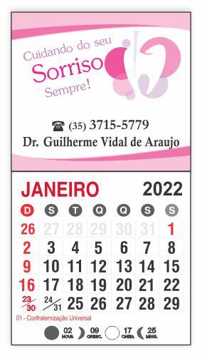 IMÃ DE GELADEIRA COM CALENDÁRIO - REF. 3354