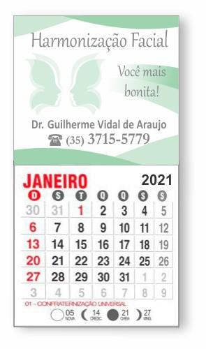 IMÃ DE GELADEIRA COM CALENDÁRIO - REF. 3378