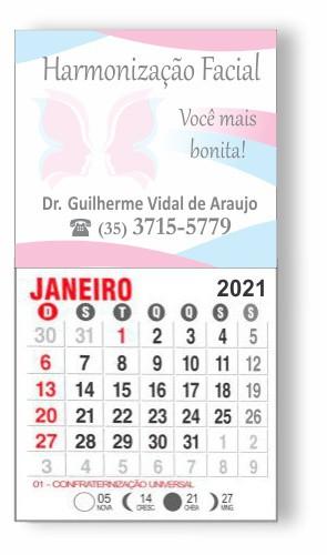 IMÃ DE GELADEIRA COM CALENDÁRIO - REF. 3379  - Odonto Impress