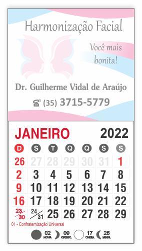 IMÃ DE GELADEIRA COM CALENDÁRIO - REF. 3379