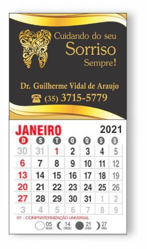 IMÃ DE GELADEIRA COM CALENDÁRIO - REF. 3384