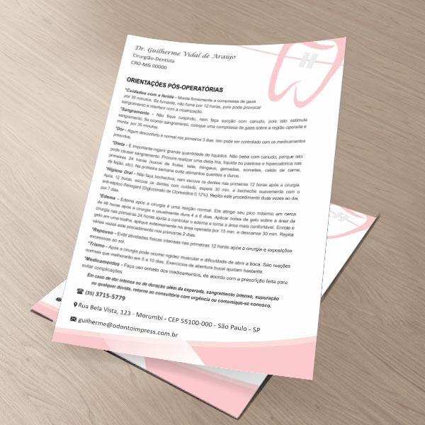 Orientações Pós-Operatórias ORTODONTIA - Ref. 3369