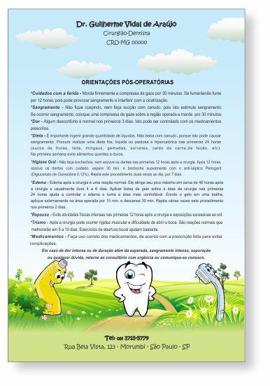 Orientações Pós-Operatórias PEDIATRIA - Ref. 3332  - Odonto Impress
