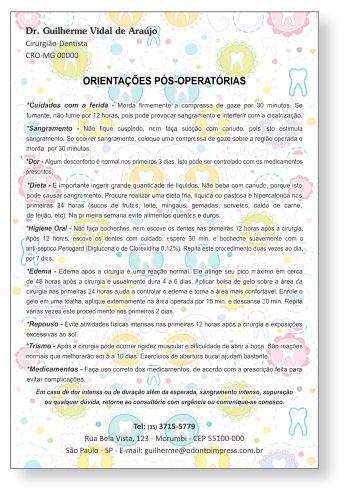 Orientações Pós-Operatórias - Ref. 0583