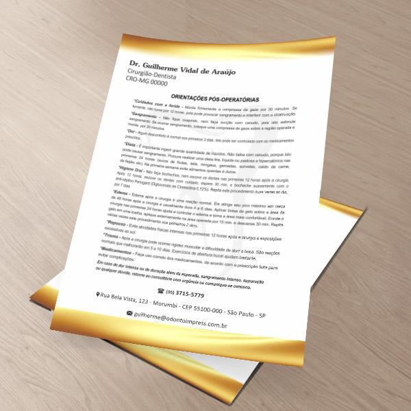 Orientações Pós-Operatórias - Ref. 0598