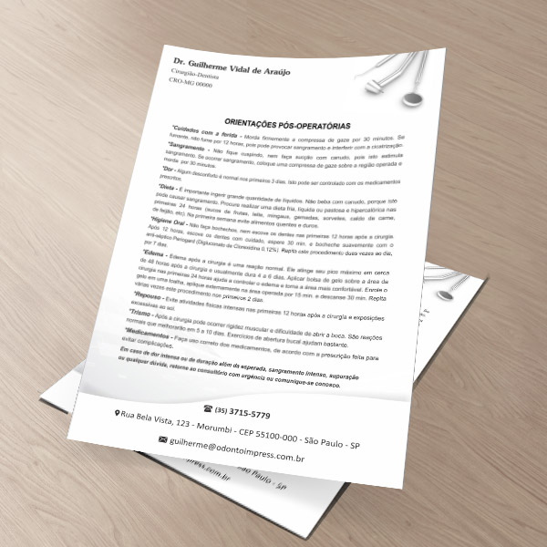 Orientações Pós-Operatórias - Ref. 0599