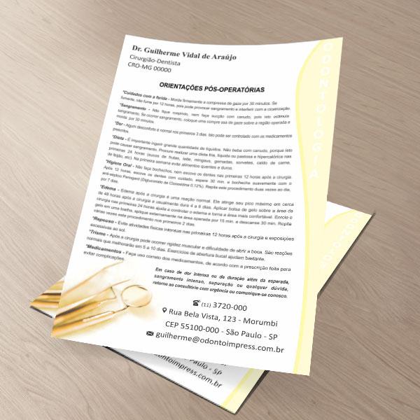 Orientações Pós-Operatórias - Ref. 3304