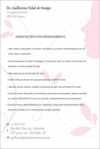 Orientações Pós-Preenchimento HOF - Ref. 0577