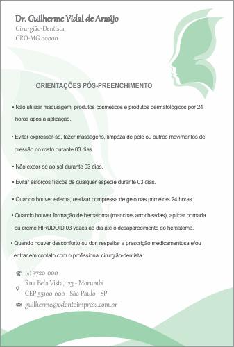 ORIENTAÇÕES PÓS-PREENCHIMENTO HOF - REF. 0578