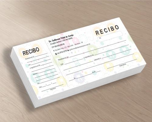 Recibo com Canhoto - Ref. 2695