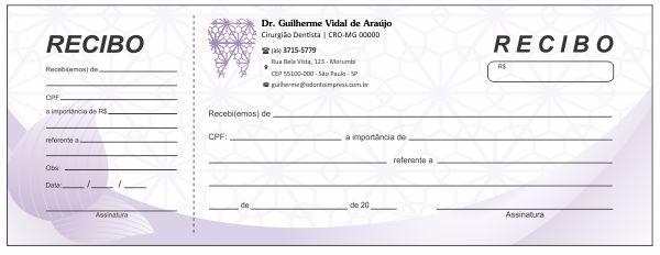 RECIBO COM CANHOTO - REF. 2712